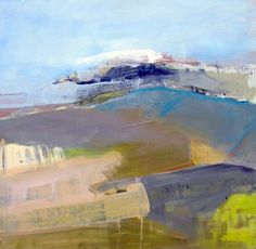 'Gust', abstract landscape painting  60x60cm by Sabine Weissbach
