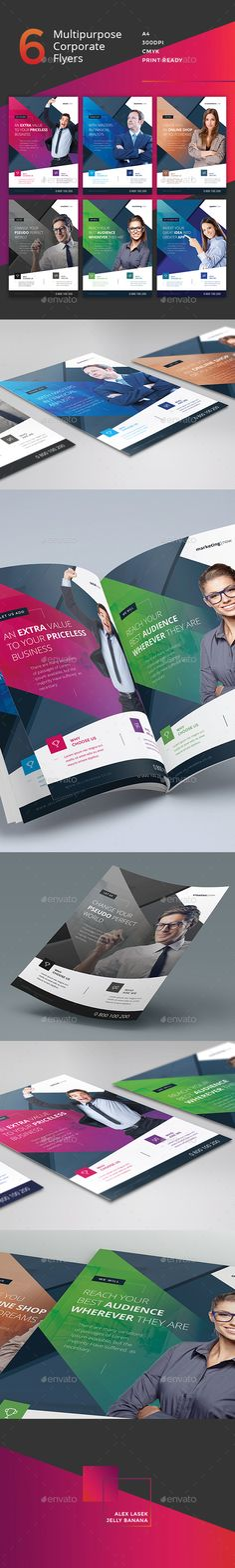 Corporate Flyer  6 Multipurpose Business Templates vol 14 — Photoshop PSD #marketing #conceptual