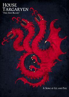A Game of Thrones coat of arms by Urukki Saki, via Behance