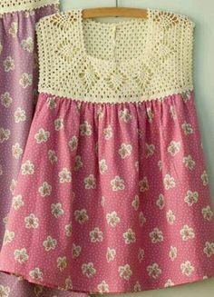 Instagram. PICTURE ONLY for inspiration. Crochet girl's dress yoke.