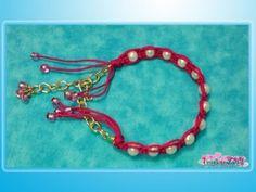 Pulsera En Macramé Con Perlas