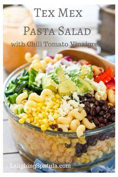 Easy Pasta Salad with a big flavor!  Yee Haw!