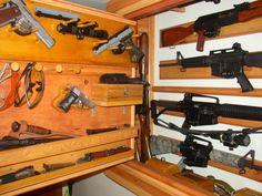 Homebuilt gun cabinet...cuz my man would love it!