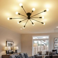 Industrial Ceiling Lights, Kitchen Ceiling Lights, Semi Flush Ceiling Lights, Ceiling Light Fixtures, Ceiling Lamps, Metal Ceiling, Bedroom Ceiling, Modern Ceiling, Floor Lamps