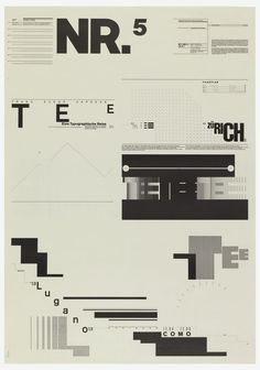 "garadinervi: "" Wolfgang Weingart, (1971-)1974 Typographic Process, Nr 1. Organized Text Structures Typographic Process, Nr 2. From Simple to Complex Typographic Process, Nr 3. Calender Text..."