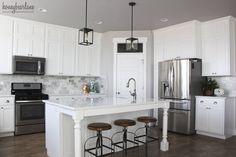 DIY Marble Backsplash in the Kitchen