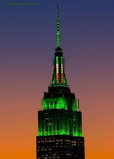 Empire State Building St Patty's Day