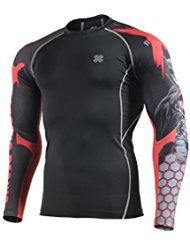 Fixgear Homme Compression Base Layer Under Manches Longues