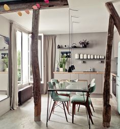 Appartement parisien sous les toits Houzz via Nat et nature