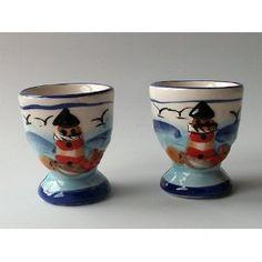 Seaside egg cups: Eierbecher Set Seaside