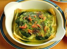 Lasagnette con pesto e salmone