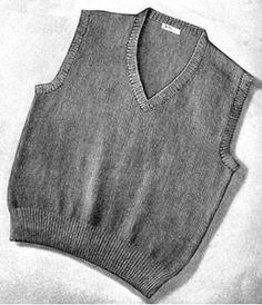 Men's Sleeveless Sweater Pattern | Knitting Patterns