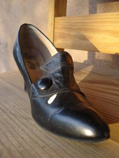 Vintage 1930s Shoes Black High Heels 201318 by bycinbyhand on Etsy, $105.00