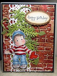 Cottage Creations - Magnolia Image of Edwin - Handmade Card