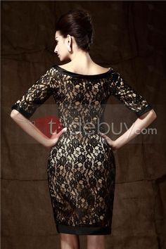 Fantastic Appliques Sheath Knee-Length Round Neckline Mother of the Bride Dress : Tidebuy.com