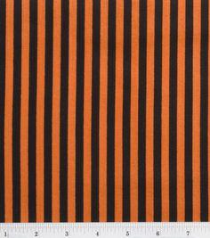 Halloween Spooky Prints Fabric-Halloween Stripe $4.89/yd