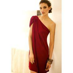 Graceful Sloping Shoulder Short Sleeve Women's Party Dress