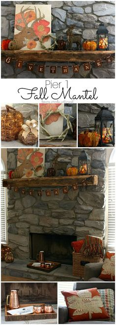 Get ready for fall by decorating your fall mantel. I love fall decor and I went…