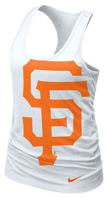 San Francisco Giants MLB Nike Women's White Cotton Racerback Tank