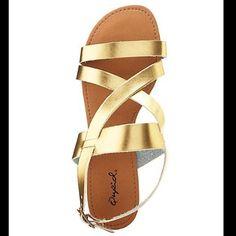"Selling this ""Gold Sandals"" in my Poshmark closet! My username is: jsaldana18. #shopmycloset #poshmark #fashion #shopping #style #forsale #Qupid #Shoes"