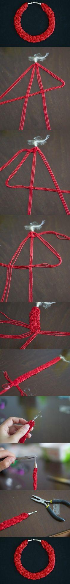 DIY Simple Bead Necklace DIY Projects | UsefulDIY.com Follow Us on Facebook ==> http://www.facebook.com/UsefulDiy