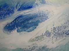 Debra LePage watercolors, ebb/flow series