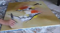 How to paint a Blended Acrylic Abstract tutorial with Ginger Cook - YouTube