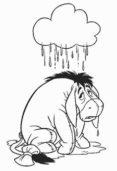 Eeyore Winnie The Pooh Color Page Disney Coloring Pages