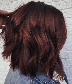 Pelo Color Vino, Short Red Hair, Short Ombre, Red Hair Dye For Dark Hair, Dark Res Hair, Red Hair For Fall, Dark Hair With Red, Hair Color Ideas For Dark Hair, Deep Auburn Hair