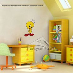 New Tweety Bird Wall Sticker Decal Children Cartoon Girly Room Decor
