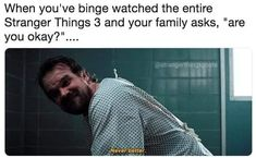 """Just 65 Hilarious Memes About """"Stranger Things"""" Season 3 Literally Just 65 Hilarious Memes About """"Stranger Things"""" Season us About us may refer to: Stranger Things Quote, Stranger Things Have Happened, Stranger Things Season 3, Stranger Things Netflix, Stranger Things Spoilers, Can't Stop Laughing, Laughing So Hard, Best Tv Shows, Best Shows Ever"""
