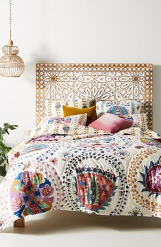 Home decor - Anthropologie Artisan Quilts by Delissa Quilt Anthropologie Home, Style Deco, My New Room, Cheap Home Decor, Home Remodeling, Master Bedroom, Interior Design, Decoration, Colorful Bedding