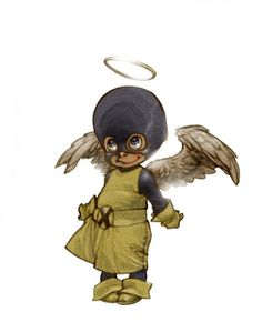 little hero angel by alberto veranda