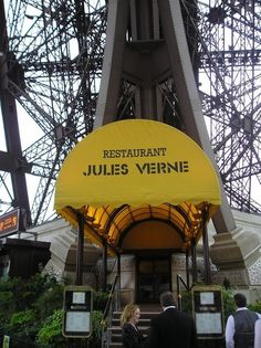 Jules Verne Restaurant at the top of the Eiffel Tower
