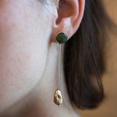 Sway Jade & Pearl Earring by Faris