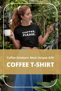 Here's the best coffee drinkers gift idea out there. Anybody will love to wear this beautiful coffee t-shirt! Click the link for details. Custom Tee Shirts, Cool T Shirts, Coffee Time Quotes, Coffee World, Coffee Accessories, Time Photography, Coffee Drinkers, Coffee Lovers, Best Coffee