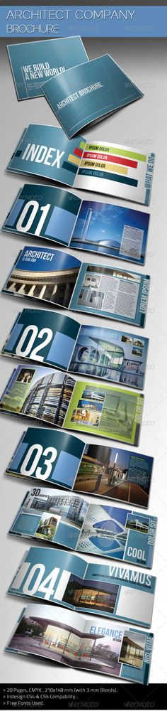 Construction Company Brochure Pinterest Brochure template - architecture brochure template