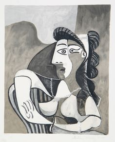 Title: Femme Accoudee au Fauteuil Year of Original: 1962 Year of Publication: 1979-1982 Medium: Lithograph on Arches Paper Edition: 500, 34 AP's Paper Size: 29 x 22 inches Ref #: 26-4