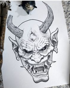 love to get an oni tattoo. Id want it to be authentic though. Getting tatt. , Would love to get an oni tattoo. Id want it to be authentic though. Getting tatt.Would love to get an oni tattoo. Id want it to be authentic though. Getting tatt. Scary Drawings, Dark Art Drawings, Pencil Art Drawings, Drawing Sketches, Tattoo Drawings, Drawing Ideas, Oni Tattoo, Dark Art Tattoo, Wrist Tattoo