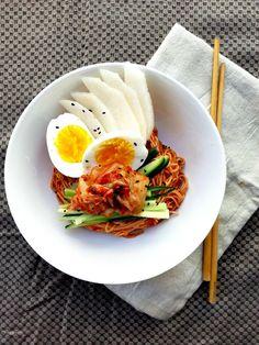 비빔국수 spicy cold noodles