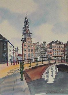 Aquarelle Amsterdam,1995, Zuiderkerk Groenburgwal, PO Wauters ??