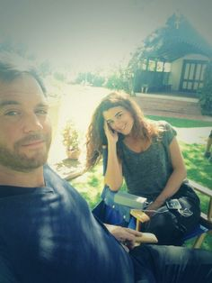 with Cote de Pablo ~Twitter/M_Weatherly