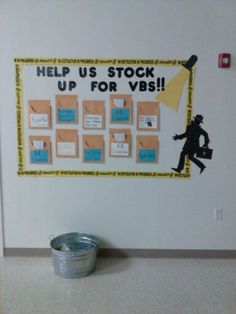 Donation board for church to support VBS!