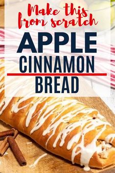 Learn how to make apple cinnamon bread with apple pie filling and cheddar cheese. This apple bread recipe is as pretty as it is delicious! Follow my step-by-step instructions to bake a braided apple cinnamon bread loaf from scratch.