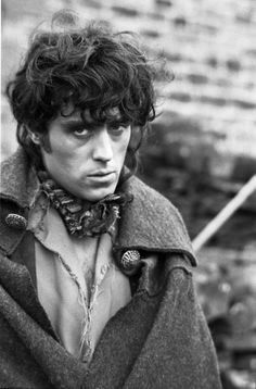 "A young Ian McShane as Heathcliff in ""Wuthering Heights"""