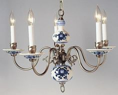 Reserved for jeanne i delft chandelier blue white pewter vintage delft chandelier this is in my dining room mozeypictures Gallery