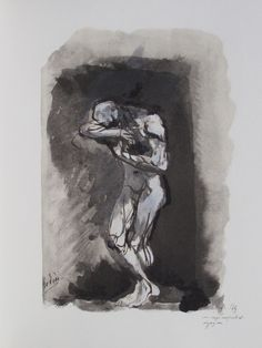 Les Fleurs du Mal, AUGUSTE RODIN. From the edition of Charles Baudelaire 'Les Fleurs du Mal' published by The Limited Editions Club, 1947.