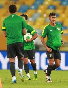 Neymar during Brazil's football practice