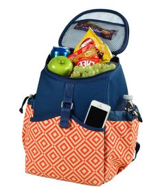 Love this Orange Diamond Cooler Backpack by Picnic at Ascot on #zulily! #zulilyfinds