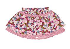 Jupe coton à carreaux et fleurie rose avec taille élastique (6 mois) kenzo échantillons vêtements enfants